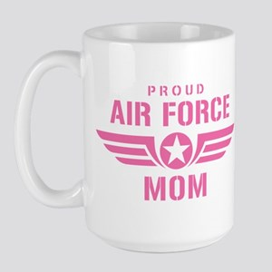 Proud Air Force Mom W [pink] Large Mug
